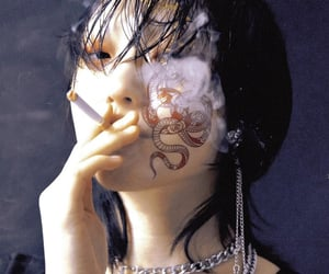 asian, black, and cigarrette image
