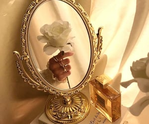 gold, aesthetic, and rose image