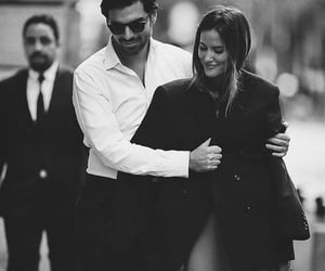 couple, black and white, and love image