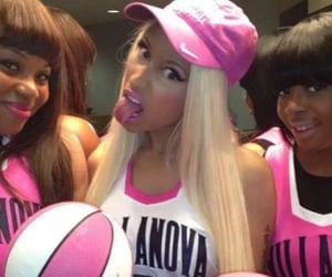 nicki minaj, pink, and Basketball image