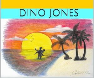 book, my writing, and dino jones image