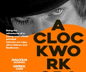 movie, Stanley Kubrick, and a clockwork orange image