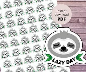 cute animals, stickers, and napping image