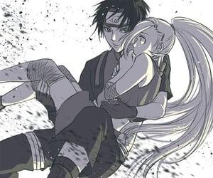 anime, hug, and yamanaka image