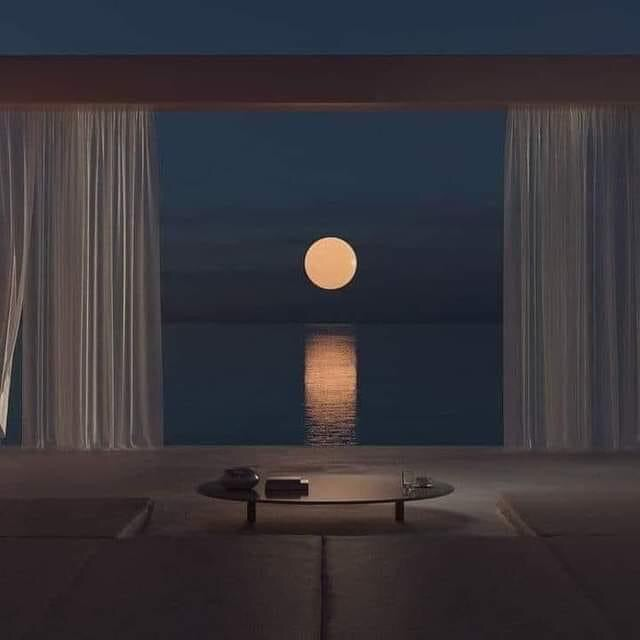 moon, night, and aesthetic image