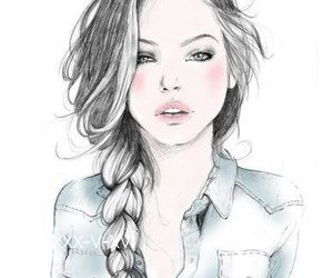 beautiful, drawing, and fashion image