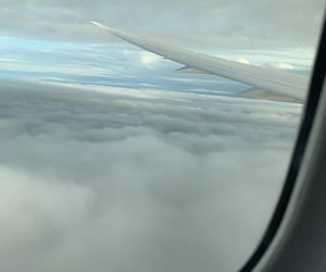 clouds, high, and wing image