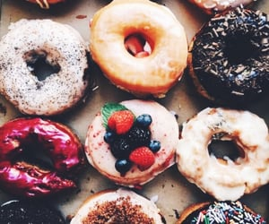 sweet, donuts, and food image