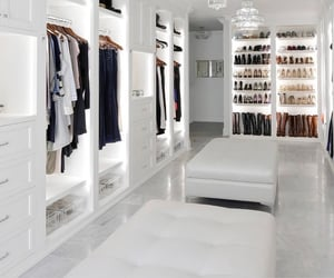 closet, home, and white image