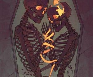 skeleton, love, and skull image