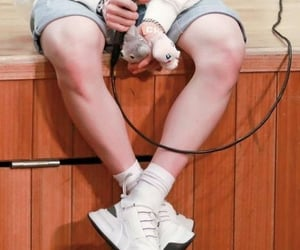 Chan, legs, and stray kids image