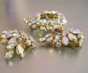 aurora borealis, vintage jewelry sets, and ab rhinestone set image