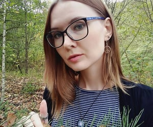 autumn, glasses, and photography image