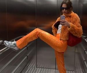 orange, aesthetic, and fashion image