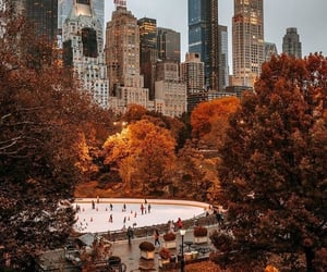 city, fall, and autumn image