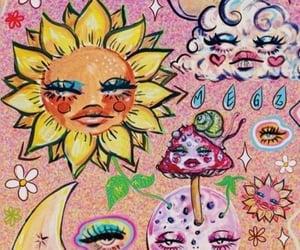 moon, wallpaper, and sun image