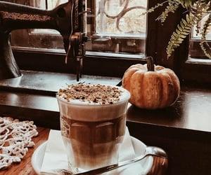 autumn, coffee, and pumpkin image