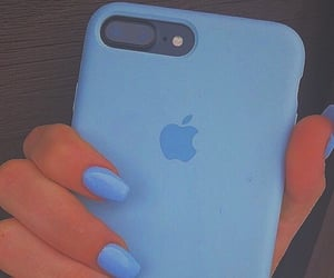 apple, carefree, and blue image