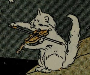 cat, violin, and music image