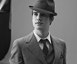 black and white, singer, and brendon urie image