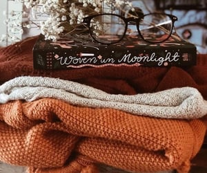 autumn, book, and sweater image