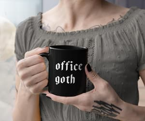 etsy, gothic style, and black mug image