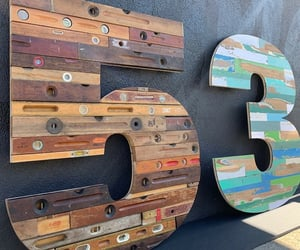 five, wooden, and levels image