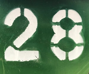 green, typography, and number 28 image