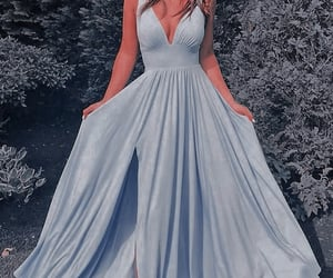 blue, comet, and dress image