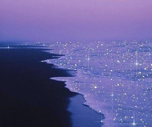 beach, glitter, and ocean image