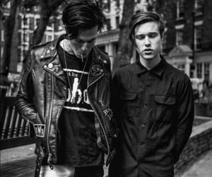 band, zach abels, and black and white image