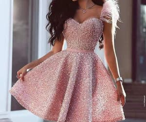 beaded prom dress, pink prom dresses, and luxury prom dresses image