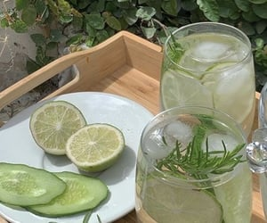 aesthetic, cucumber, and drink image