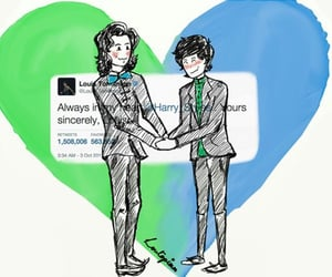larry, one direction, and larry stylinson image