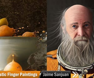 art, realistic painting, and artwork image