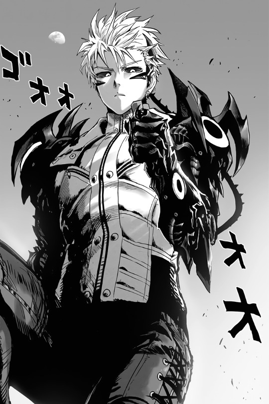 manga, monochrome, and opm image