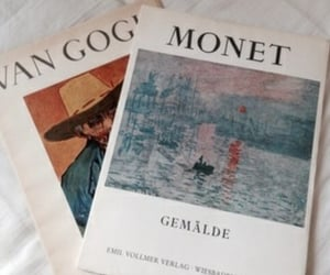 van gogh, art, and book image