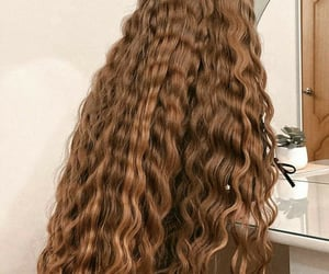 brown, curly, and girl image
