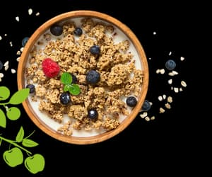 granola, healthy breakfast, and healthy food image