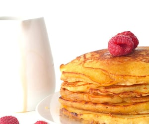 delicious, raspberries, and syrup image