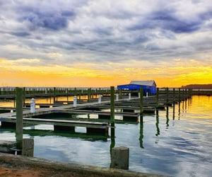 boating, sunset, and East Coast image