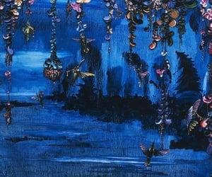 art, birds, and blue image