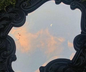 mirror, moon, and sky image