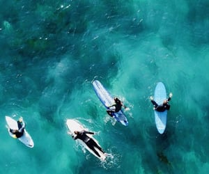 blue, surfers, and surfing image