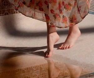 vintage, dress, and feet image