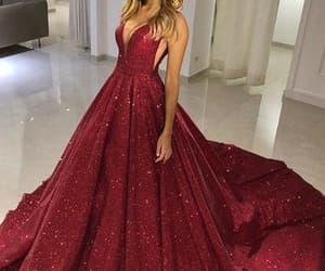 fashion, evening dress, and prom dress image