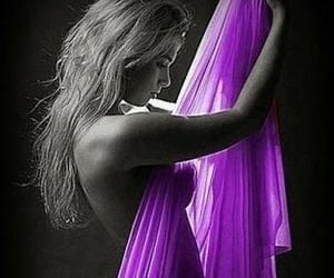 fabric, purple, and sheer image
