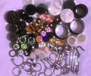 jewelry, piercing, and earplugs image