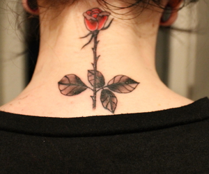 flower, ink, and flower tattoo image