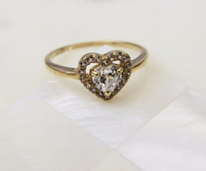 gold, heart, and ring image
